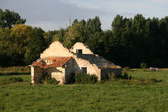Abandoned home in France Stock Photo