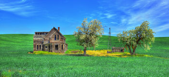 Abandoned home in the plains HDR Royalty Free Stock Photography