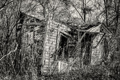 Abandoned Home in South TX 1 B&W Stock Photo