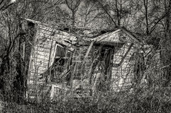 Abandoned Home in South TX 2 B&W Stock Photo