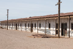 Abandoned homes, Humberstone ghost town, Atacama desert, Chile Royalty Free Stock Photo