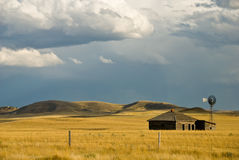 Abandoned Homestead and dramatic sky Stock Photography