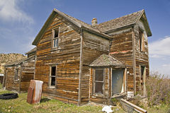 Abandoned Homestead with refrigerator Royalty Free Stock Photos