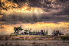 Abandoned Homestead at Sunset Royalty Free Stock Photography