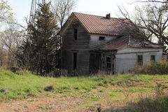 Abandoned homestead. Think of all the memories this house holds looking back thru the years Royalty Free Stock Images