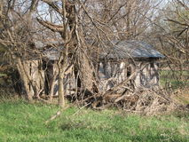 Abandoned homestead. Think of all the memories this house holds looking back thru the years Royalty Free Stock Photos