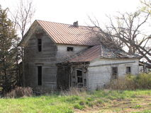 Abandoned homestead. Think of all the memories this house holds looking back thru the years Royalty Free Stock Photography