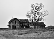 Abandoned Homestead. A vacant house and property near Bloomer Wisconsin Royalty Free Stock Images
