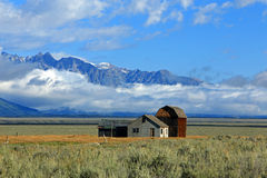 Abandoned homestead in Wyoming. Royalty Free Stock Photos