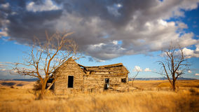 Abandoned Homesteader Cabin in Eastern Washington Stock Photo