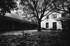 Abandoned horror house Royalty Free Stock Photo