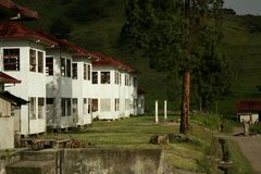 Abandoned Hospital. An abandoned sanitarium in Costa Rica stock photography