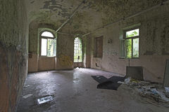 Abandoned Hospital Building called Mombello Royalty Free Stock Photography
