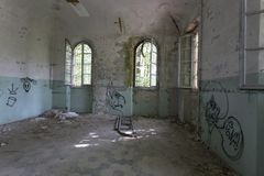 Abandoned Hospital Building called Mombello Stock Photography
