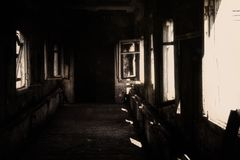 Abandoned Hospital, Horror, abyss royalty free stock photos