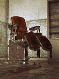 Abandoned Hospital and Torture Chair Stock Photo