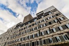 An abandoned hospital - Vgo. The remains of an old hospital in Vigo - Spain stock photography