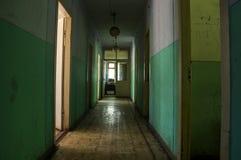 Abandoned hostel hallway Stock Photos