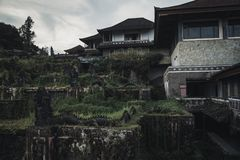 Abandoned hotel in Bali island Stock Photo