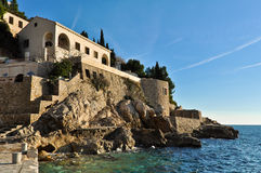Abandoned Hotel Belvedere in Dubrovnik Royalty Free Stock Photo