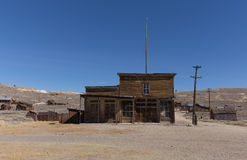 Abandoned hotel in Bodie Ghost Town Royalty Free Stock Photography