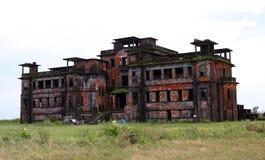 Abandoned hotel. Bokor Hill. Kampot. Cambodia. Royalty Free Stock Image
