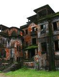 Abandoned hotel. Bokor Hill. Kampot. Cambodia. Abandoned hotel 'Bokor Palace' in Ghost town Bokor Hill station near the town of Kampot. Cambodia Royalty Free Stock Photo