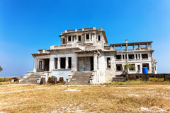 Abandoned hotel Bokor Palace in Ghost town Hill station near Kampot. Cambodia Stock Photography