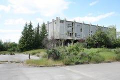 Abandoned hotel building Stock Photo