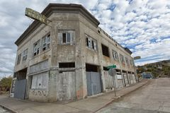 Abandoned hotel building in Miami Arizona Stock Photos