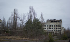 Abandoned Hotel. The abandoned hotel in Chernobyl zone. Ghost town. deserted place. Pripyat Royalty Free Stock Photography