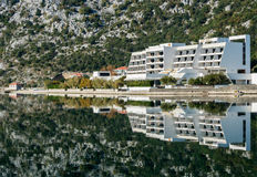 Abandoned hotel reflection Royalty Free Stock Photos