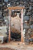 Abandoned house. Door hole (ruin Royalty Free Stock Image