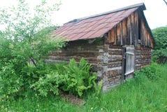 The abandoned house. Hunter house nesr Tashtagol, Russia Stock Images