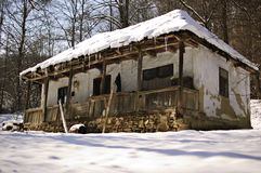 Abandoned house. Abandoned wooden rustic house, Romania royalty free stock photo