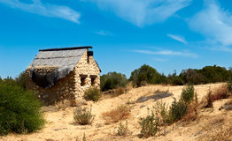 Abandoned house. In the semidesert Royalty Free Stock Photography