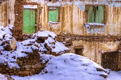 Abandoned house. In the winter at ankara Royalty Free Stock Photo