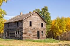 Abandoned house autumn trees Stock Photo