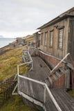 Abandoned house in Barentsburg, Russian settlement in Svalbard Stock Photo