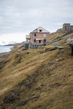 Abandoned house in Barentsburg, Russian settlement in Svalbard Royalty Free Stock Photography
