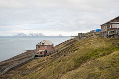 Abandoned house in Barentsburg, Russian settlement in Svalbard Stock Image