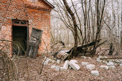 Abandoned House In Belarusian village. Chornobyl Stock Photography