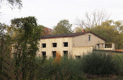 Abandoned house. Big old abandoned house in the forest in Havirov, Czech Republic Royalty Free Stock Photos
