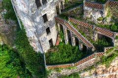 Abandoned house buildings, Porto, Portugal. Stock Photo