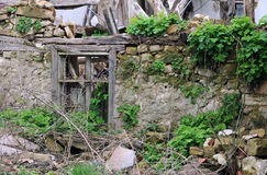 Abandoned House in the Bulgarian Village Stock Images