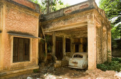 Abandoned house and car Stock Photography