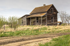 Abandoned house. Abandoned clapboard house with a verandah Stock Photo