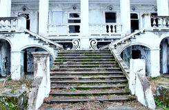 Abandoned House. Abandoned country house oldest vintage retro window arch forester architecture royalty free stock images