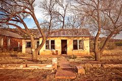 Abandoned house in Cuervo, New Mexico Royalty Free Stock Images