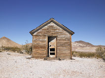 Abandoned House in Desert with Open Door Royalty Free Stock Photos